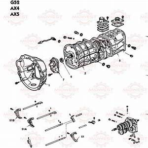 Parts Illustration Toyota Ax4  Ax5 And G52 Speed Manual