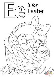 easter pictures to color and print letter e is for easter coloring page free printable