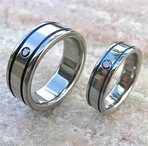 matching black diamond titanium band set stbd10 titanium With matching titanium wedding rings