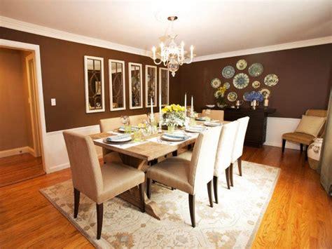 beautiful dining rooms  brown walls