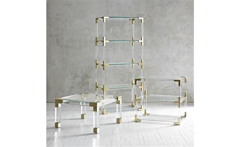 Our chic designs in luxe materials and fab finishes add a pop of glamour to any living room. Coco Republic Jacques Lucite 2 Tier Table | Furniture, Homeware, Jonathan adler