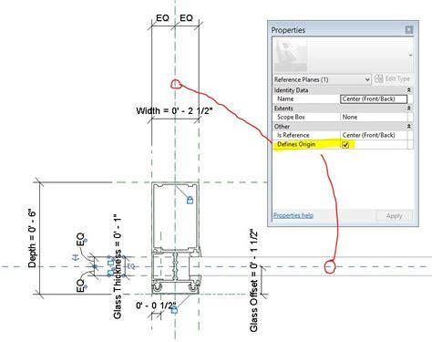 kawneer curtain wall 1600 revitcity mullion with profile won t center on