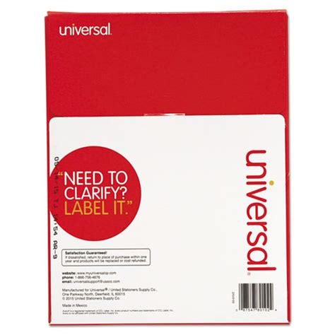 Universal Laser Printer Labels Template by Unv80102 Universal 174 Laser Printer Permanent Labels Zuma
