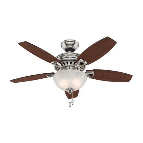 hunter stratford ceiling fan hunter holden 44 in indoor brushed nickel ceiling fan