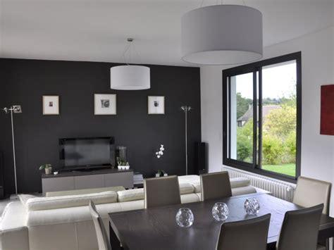 cuisine ouvert sur salon séjour contemporain ouvert sur les trois pièces salon