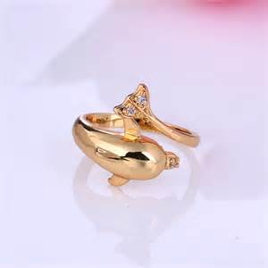 dolphin wedding rings aliexpress buy new arrival fashion jewelry 18k yellow gold plated black cz stylish