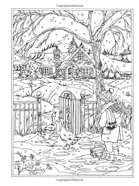 amazon com creative haven winter wonderland coloring book