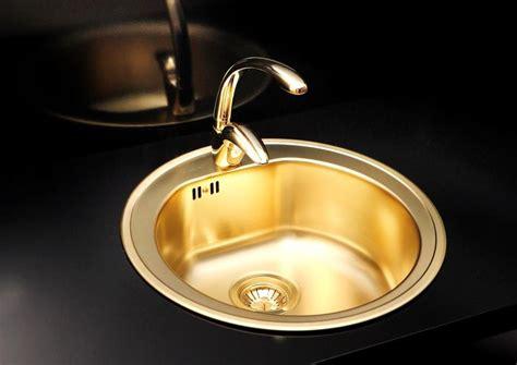 brass gold  bowl kitchen sink uk alveus monarch