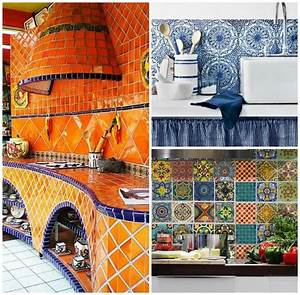 bring a pop of artful color to your homes using mexican With best brand of paint for kitchen cabinets with mexican ceramic wall art