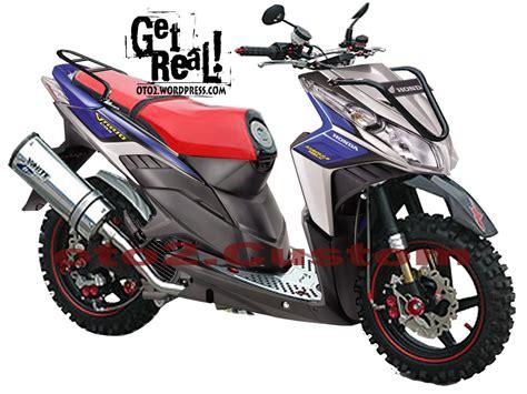 motor cycle modifikasi modifikasi honda vario cbs techno