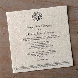 paper for wedding invitations enchanted tree plantable wedding invitations seed paper