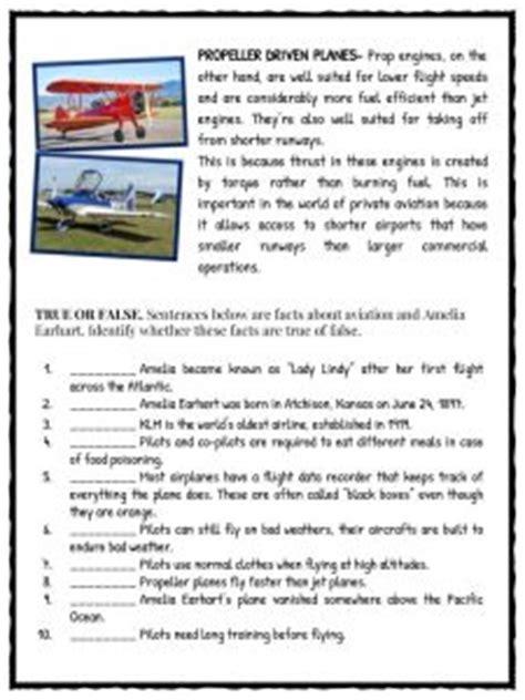 amelia earhart facts information worksheets  kids
