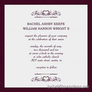 Top of wedding invitations examples theruntimecom for Example of wedding invitations designs
