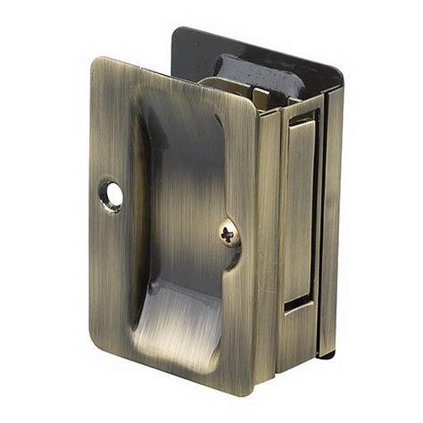 pocket door pull richelieu hardware 3 7 32 in antique brass pocket door