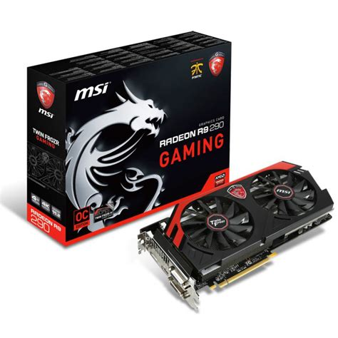 carte graphique pc bureau carte graphique msi r9 290 gaming 4go ddr5