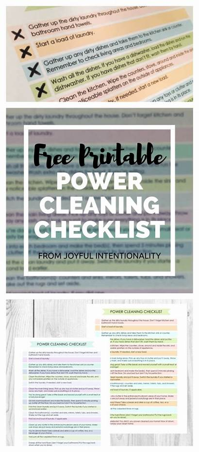 Cleaning Power Whole Checklist Clean