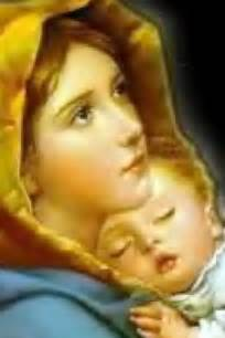 Mother Mary and Baby Jesus Painting