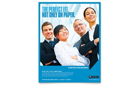 staffing recruitment agency flyer template design