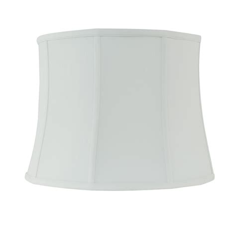 white drum l shade rembrandt 16 in dia x 12 in h white linen drum l