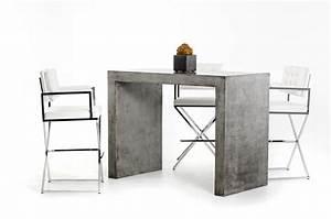 Table Bar But : modrest mcgee modern concrete bar table bar dining ~ Teatrodelosmanantiales.com Idées de Décoration