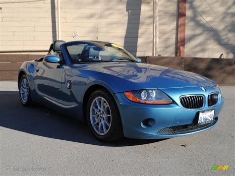 Maldives Blue Metallic 2003 Bmw Z4 2.5i Roadster Exterior