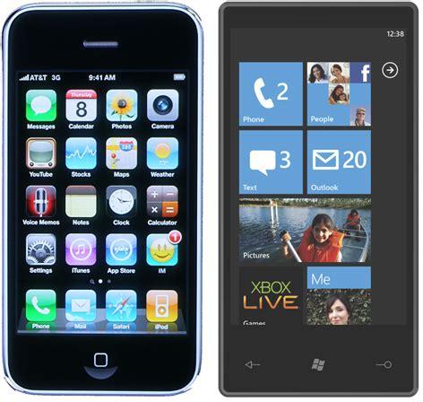 windows phone vs iphone iphone os 4 vs windows phone 7 s s