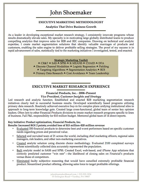 The Write Resume Llc by Marketing Executive Resume