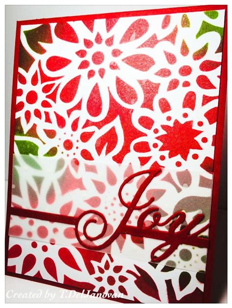 christmas card stencils 14 best images about stenciled cards on pinterest tim