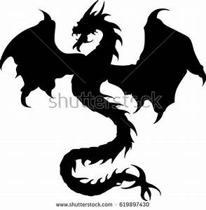 Dragon Silhouette Stock Images, Royalty-Free Images ...