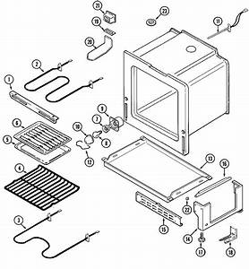 Oven  Base Diagram  U0026 Parts List For Model Per5710baq Maytag