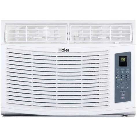 conditioners home depot haier 6 000 btu window air conditioner with remote
