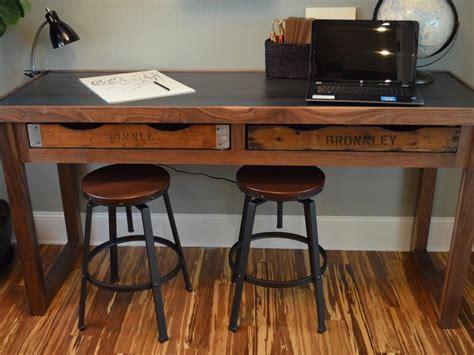 build  rustic office desk  tos diy