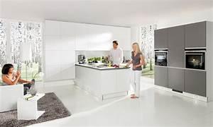 Grey & white matt kitchen in a contemporary 'True