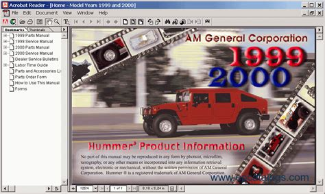 free online auto service manuals 1999 hummer h1 regenerative braking hummer h1 1999 2000 electronic spare parts catalogue