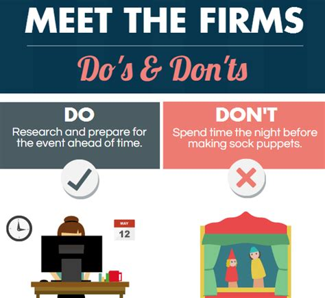 the do s don ts how to conquer meet the firms a resource guide