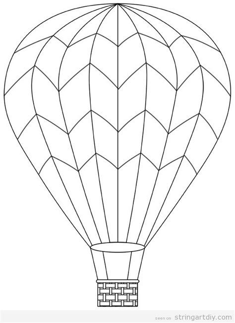 Air Balloon Template Some Air Balloon String That Are Amazing Free