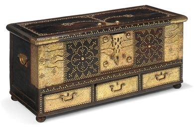 brass mounted teak zanzibar chest  century