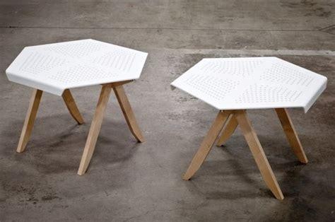 perforated geometric furniture hexa side table