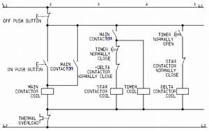 Control Circuit Of A Star Delta Or Wye Delta Electric Motor Controller