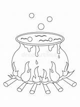 Halloween Cauldron Coloring Witch Chaudron Heksenketel Pagina Calderone Strega Coloritura Della Pot Clipart Kleurende Coloration Sorciere Illustratie Schilderen Waterverf Het sketch template