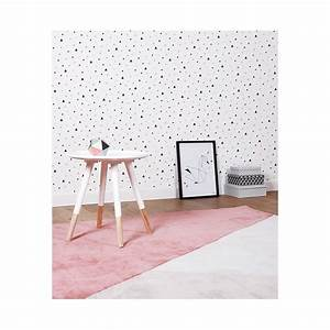Tapis Geometrique Noir Et Blanc : papier peint enfant g om trique triangle noir et corail lilipinso ~ Teatrodelosmanantiales.com Idées de Décoration