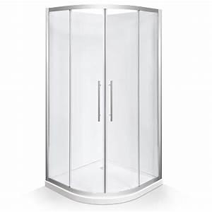 Stein 900 x 900 x 2000mm curved georgia shower door set for Bathroom wall panels bunnings