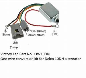 One Wire Alternator Conversion Kit Ow10dn