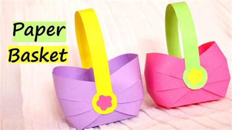 paper basket  easter  easy paper