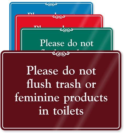 feminine hygiene signs do not deposit sanitary napkins