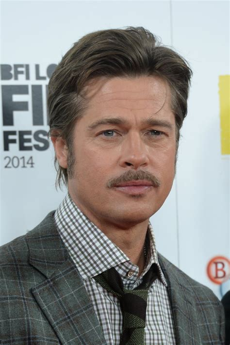 october  manly mustache brad pitt  hair moments