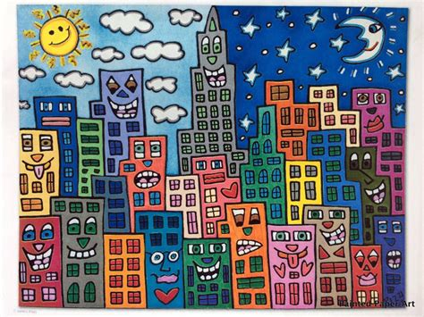 paintings for home rizzi pop buildings painted paper