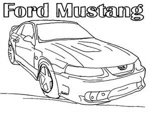 Ford Mustang Funny Car Coloring Pages