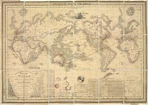 Emigration Map of the World 1849   The Map Company