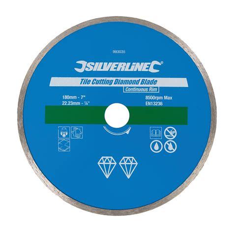 disque coupe carrelage 180 mm disque diamant 180 mm pour carrelage silverline 993035 outillage professionnel discount et